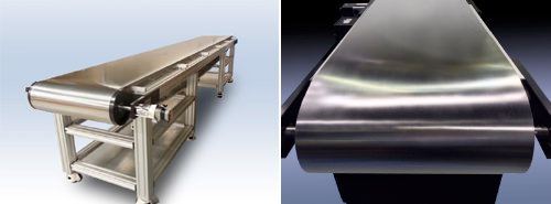 Sistema de correia de aço - Esteira de correia de aço
