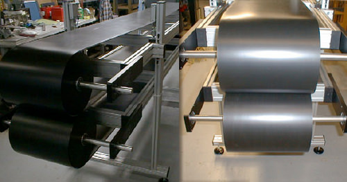 Metal  belt for laminating with Teflon coating - Steel belt conveyor