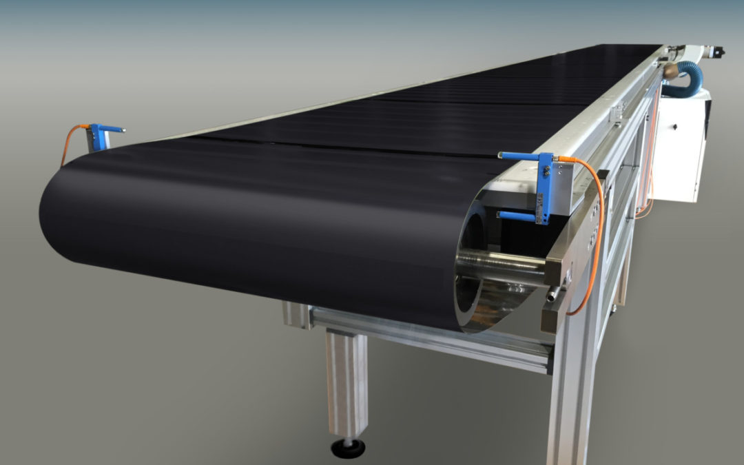 Automated Solar Stringer Achieves Maximum Flexibility with Wide, Perforated Stainless Steel Conveyor Belts from Belt Technologies