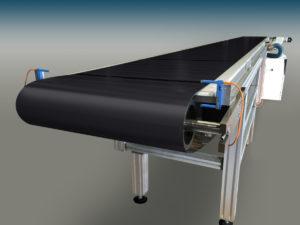 tapis convoyeur de longerons solaires en acier inoxydable