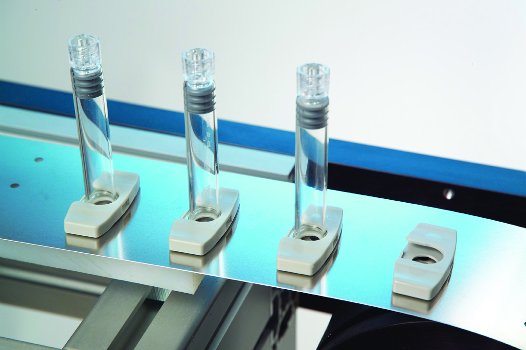 syringes being manufactured