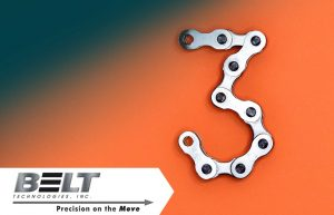 Picture of the number 3 made out of a chain to accompany blog on National Engineers Week.